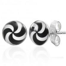 Hypno stud earrings made of steel