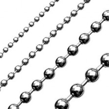 Stainless steel military ball chain - shiny silver colour