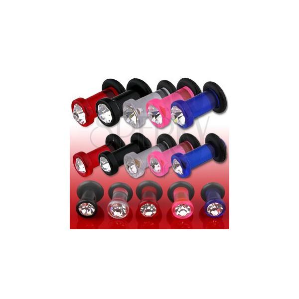Adjustable UV ear plug with zircon
