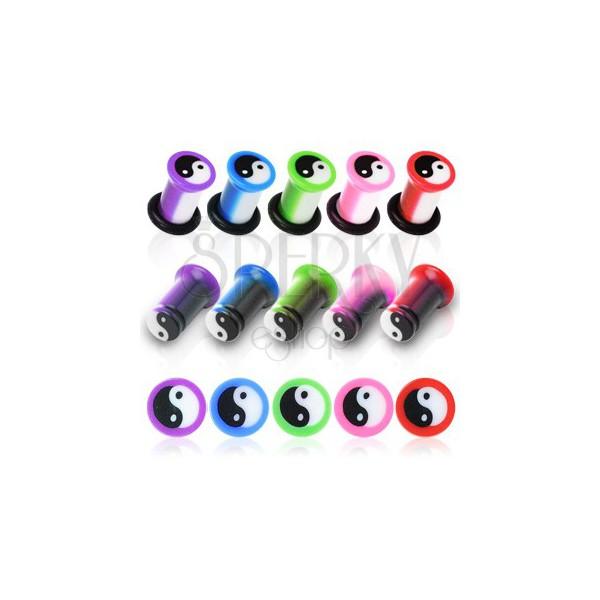 Yin Yang UV ear plug, marbled